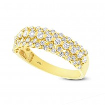0.98ct 18k Yellow Gold Diamond Lady's Ring