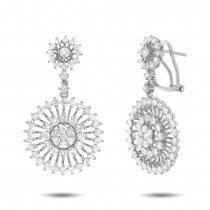 4.45ct 18k White Gold Diamond Earrings