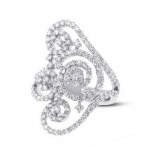 1.89ct 18k White Gold Diamond Lady's Ring