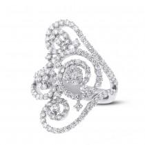 1.89ct 18k White Gold Diamond Lady's Ring