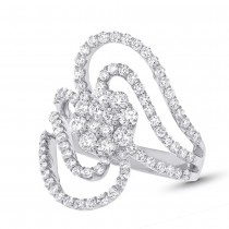1.83ct 18k White Gold Diamond Lady's Ring