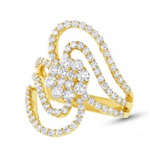 1.83ct 18k Yellow Gold Diamond Lady's Ring