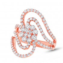 1.83ct 18k Rose Gold Diamond Lady's Ring