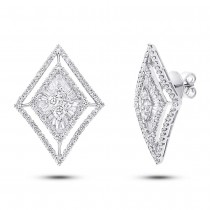 3.20ct 18k White Gold Diamond Earrings