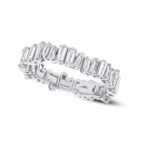 0.67ct 14k White Gold Diamond Baguette Lady's Band