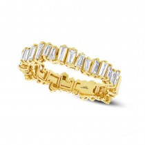 0.67ct 14k Yellow Gold Diamond Baguette Lady's Band