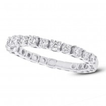 0.61ct 14k White Gold Diamond Lady's Band