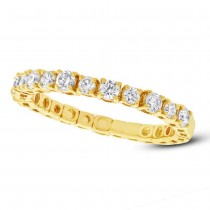0.61ct 14k Yellow Gold Diamond Lady's Band
