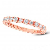 0.61ct 14k Rose Gold Diamond Lady's Band