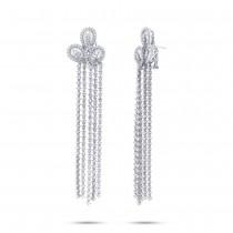 11.27ct 18k White Gold Diamond Chandelier Earrings