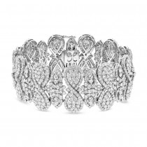 22.41ct 18k White Gold Diamond Bracelet