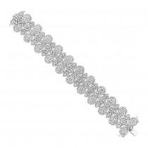 22.41ct 18k White Gold Diamond Bracelet escape