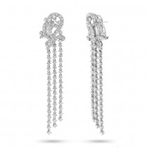 5.79ct 18k White Gold Diamond Earrings
