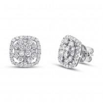 1.95ct 18k White Gold Diamond Earrings