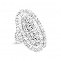 6.34ct 18k White Gold Diamond Lady's Ring