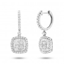 1.59ct 18k White Gold Diamond Baguette Earrings