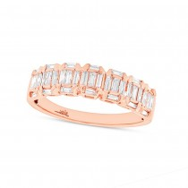 0.53ct 14k Rose Gold Diamond Baguette Lady's Band