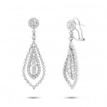 2.90ct 18k White Gold Diamond Earrings