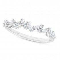 0.46ct 14k White Gold Diamond Baguette Lady's Band