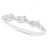 0.36ct 14k White Gold Diamond Baguette Lady's Band