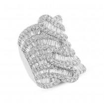 4.77ct 18k White Gold Diamond Baguette Lady's Ring
