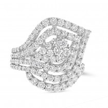 2.53ct 18k White Gold Diamond Lady's Ring