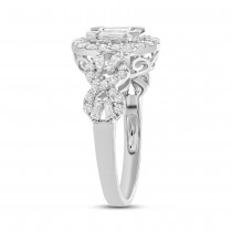1.55ct 18k White Gold Diamond Baguette Lady's Ring