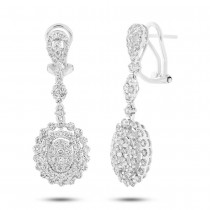 2.70ct 18k White Gold Diamond Earrings