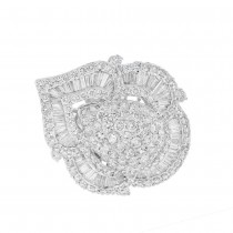 7.54ct 18k White Gold Diamond Lady's Ring