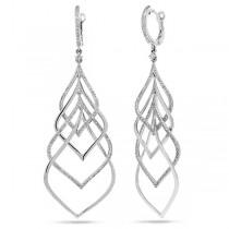1.31ct 14k White Gold Diamond Earrings