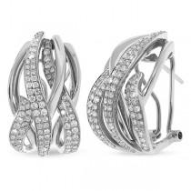 1.37ct 14k White Gold Diamond Earrings