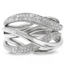 0.52ct 14k White Gold Diamond Bridge Ring