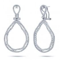 2.95ct 14k White Gold Diamond Earrings