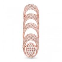 5.19ct 14k Rose Gold Diamond Lady's Ring