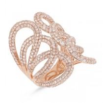 2.68ct 14k Rose Gold Diamond Lady's Ring