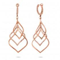 0.57ct 14k Rose Gold Diamond Earrings