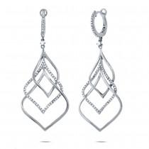 0.57ct 14k White Gold Diamond Earrings