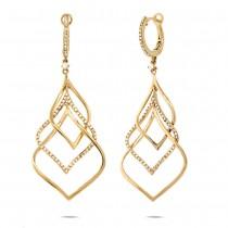 0.57ct 14k Yellow Gold Diamond Earrings