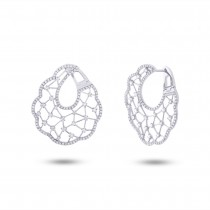 1.84ct 14k White Gold Diamond Earrings