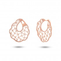 1.84ct 14k Rose Gold Diamond Earrings