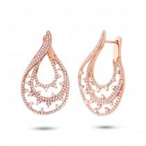 2.10ct 14k Rose Gold Diamond Earrings