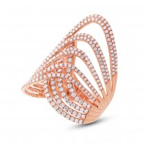 1.90ct 14k Rose Gold Diamond Lady's Ring