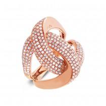 1.24ct 14k Rose Gold Diamond Lady's Ring