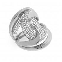 1.15ct 14k White Gold Diamond Lady's Ring Size 7.5