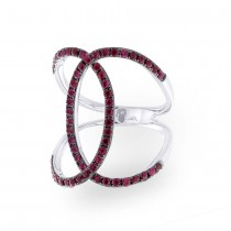 1.00ct Ruby 14k White Gold Lady's Ring