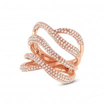 1.31ct 14k Rose Gold Diamond Lady's Ring