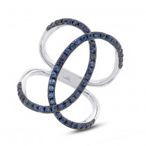 0.90ct Blue Sappphire 14k White Gold Lady's Ring