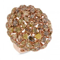 2.81ct 18k Rose Gold Fancy Color Diamond Ring