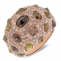 8.95ct 18k Rose Gold Fancy Color Diamond Ring