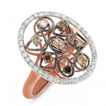 0.71ct 14k Rose Gold Fancy Color Diamond Ring
